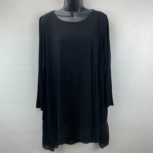 Eileen Fisher Silk Tunic Top 2X Plus